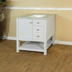 "30"" Single Sink Bathroom Vanity - White/White Top"