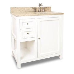 "36"" Astoria Modern Single Sink Vanity - Cream White"