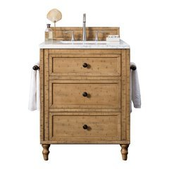 "26"" Hand-Painted Series Single Sink Vanity w/ N/A Top - Driftwood Patina"