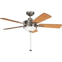 52 Inch Logan 40W Ceiling Fan - Antique Pewter and Black Cherry/Light Cherry