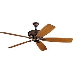 70 Inch Monarch Ceiling Fan - Oil Brushed Bronze and Cherry/Walnut