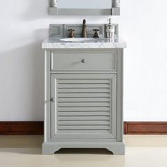 "26"" Savannah Single Vanity w/Cararra White Top - Urban Gray"