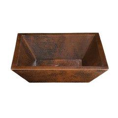 "19"" x 14"" Diego II Vessel Bathroom Sink - Black Copper"