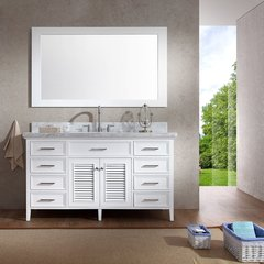 "61"" Kensington Single Sink Bathroom Vanity - White"