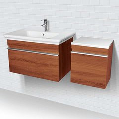 "31-1/2"" Lakeside Wallmount Vanity w/ Cabinet - Walnut Medium"