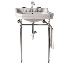 "23.8"" Wellington Single Sink Vanity w/ Ceramic Top - Chrome"