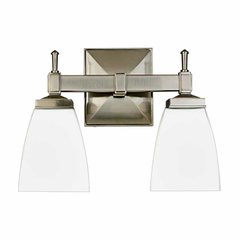 Kent 2 Light Bathroom Vanity Light - Satin Nickel