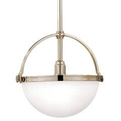 Stratford 1 Light Pendant - Polished Nickel
