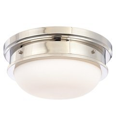 Trumbull 3 Light Flush Mount - Polished Nickel
