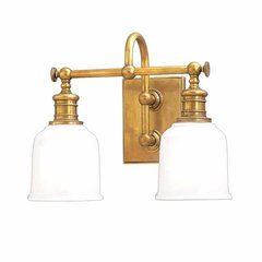 Keswick 2 Light Bathroom Vanity Light - Aged Brass