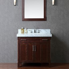 "36"" Seacliff Redford Single Sink Bathroom Vanity - Walnut"