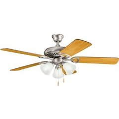 52 Inch Sutter Place Premier 60W Ceiling Fan - Antique Pewter and Light/Dark Cherry