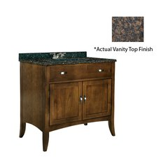 "30"" Metro Single Sink Vanity w/ Brown Top - Brown Cherry"