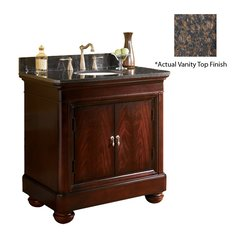 "36"" Mount Vernon Single Sink Vanity w/ Brown Top - Merlot"