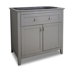 "36"" Chatham Shaker Single Cabinet Only w/o Top - Gray"