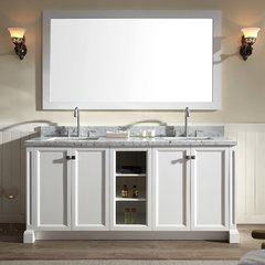 "73"" Westwood Double Sink Bathroom Vanity - White"