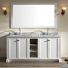 """73"""" Westwood Double Sink Bathroom Vanity - White"""