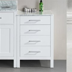 "66"" Malibu Linen Cabinet - White"