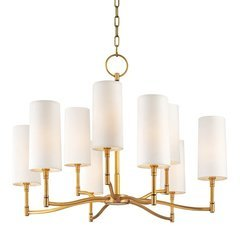 Dillon 9 Light Chandelier - Aged Brass