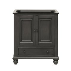 """30"""" Thompson Cabinet Only w/o Top - Charcoal Glaze"""