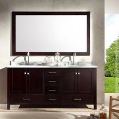 "73"" Cambridge Double Sink Bathroom Vanity - Espresso"