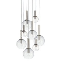 Bubbles 8-Light Pendant - Polished Nickel