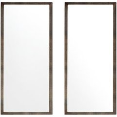 Oasis 40 Inch x 23 Inch Mirror - Olive Ash Eclipse