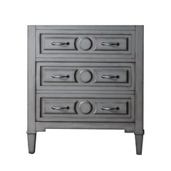 "30"" Kelly Single Cabinet Only w/o Top - Grayish Blue"