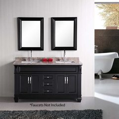 "60"" Hudson Double Sink Bathroom Vanity - Espresso"