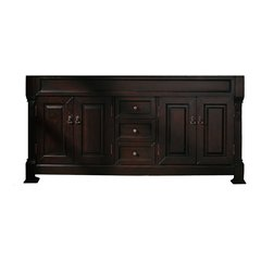 """72"""" Brookfield Cabinet Only w/o Top - Burnished Mahogany"""
