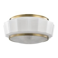 Odessa 3 Light Flush Mount - Aged Brass