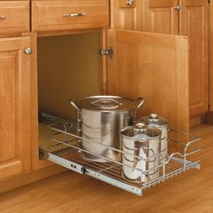 5WB Series Pullout Chrome Baskets by Rev-A-Shelf