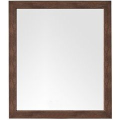 Columbia 42 Inch x 48 Inch Mirror - Coffee Oak