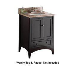 "24"" Berkshire Cabinet Only w/o Top - Espresso"