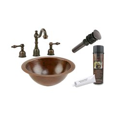 "12""x12"" Round Undermount Sink Package - Oil Rubbed Bronze"