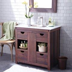 "36"" Cabernet Single Sink Bathroom Vanity Suite - Cabernet"