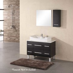 "36"" Paris Single Vessel Sink Bathroom Vanity - Espresso"