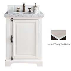 "26"" Providence Vanity w/Galala Beige Top - Cottage White"