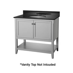 "36"" Auguste Cabinet Only w/o Top - Gray"