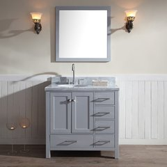 "37"" Cambridge Single Sink Vantity w/ Left Sink - Gray"