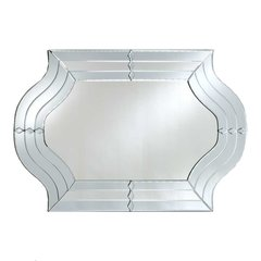 """Radiance Venetian 29"""" Wall Mount Oval Mirror - Etched"""
