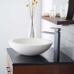 "17"" Round Morro Vessel Bathroom Sink - Pearl"