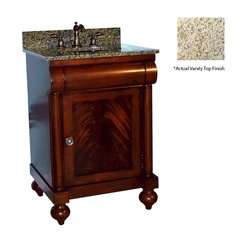 "24"" John Adams Single Sink Vanity w/ Black Top- Brown Cherry"
