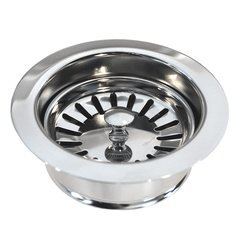 "3-1/2"" Basket Strainer Drain w/Disposer Trim - Chrome"