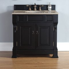 "60"" Brookfield Double Vanity w/ Galala Beige Top-Ant. Black"