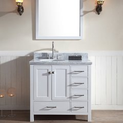 "37"" Cambridge Single Sink Vantity w/ Left Sink - White"