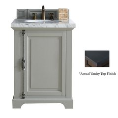 "26"" Providence Vanity w/ Black Polished Top - Urban Gray"