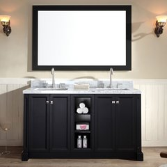 "61"" Westwood Double Sink Bathroom Vanity - Black"