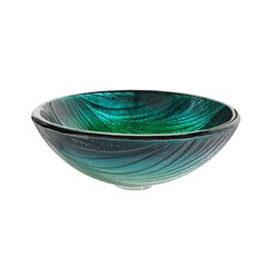 "17"" Nei Vessel Sink - Multicolor Glass"
