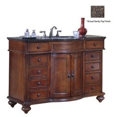 "48"" Arlington Single Vanity w/ Brown Top - Distressed Cherry"
